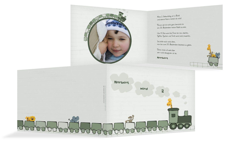 Einladung Foto Zoozug, 20 Karten, LilaFlieder B07L151KGV | Gutes Design  | Ideales Geschenk für alle Gelegenheiten  | Sofortige Lieferung