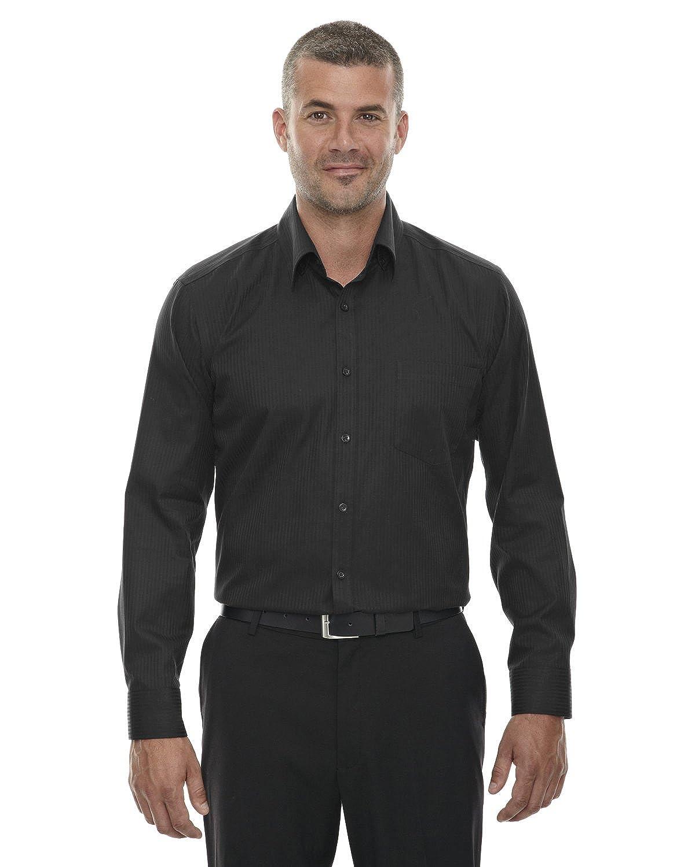 North End Sport Mens Taped Stripe Jacquard Shirt