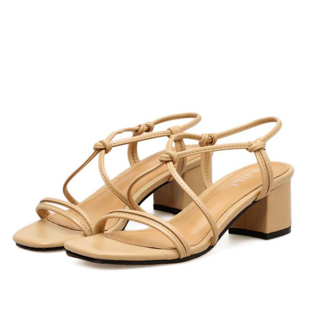 c34a3625 De bajo costo Señoras de las mujeres sandalias de la PU del verano zapatos  de tacones ...