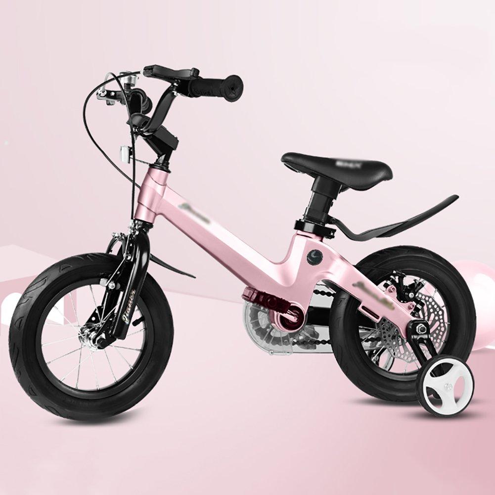 18インチの男の子と女の子サイクリング子供の自転車自転車バイク2-4-6-7-8-9-10歳のベビーキャリッジのベビーカーブルーピンクゴールド B07DXKJL8Rピンク ぴんく