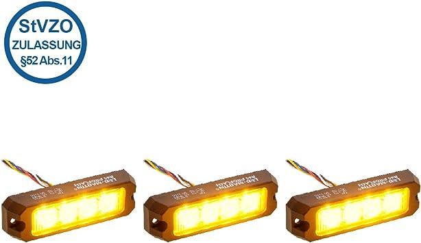 Led Martin 3modul Heckwarnsystem Nach 52 Abs 11 Stvzo Für Einsatzfahrzeuge Auto