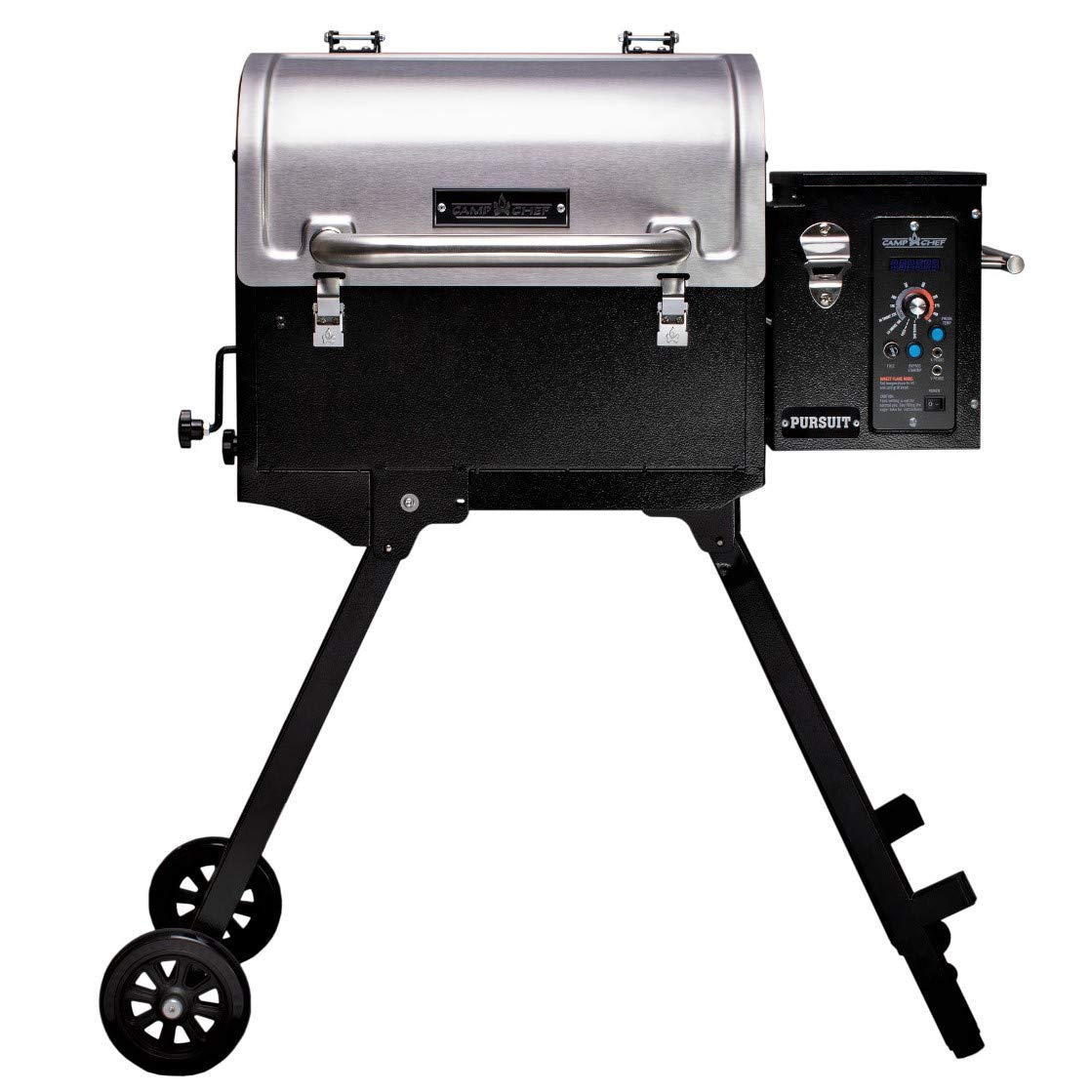 Camp Chef Pursuit 20 Portable Pellet Grill Smoker, Stainless Steel (PPG20) - Smart Smoke - Slide and Grill Technology by Camp Chef