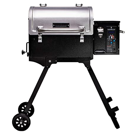 Camp Chef Pursuit 20 Portable Pellet Grill Smoker, Stainless Steel PPG20 – Smart Smoke – Slide and Grill Technology