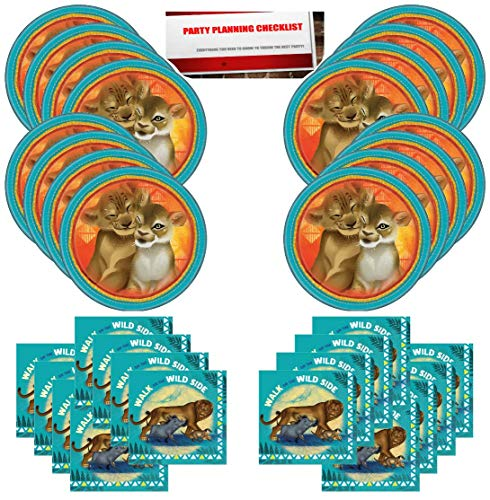 The Lion King Birthday Party Supplies Bundle Pack for 16 Guests (Plus Party Planning Checklist by Mikes Super Store) -