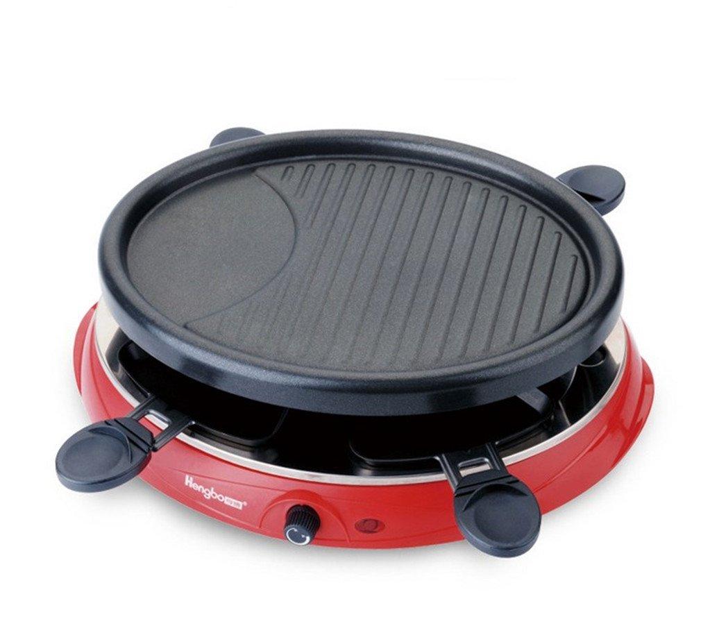 電気オーブン家庭用無煙2層バーベキューストーブポータブル B07D586NKP