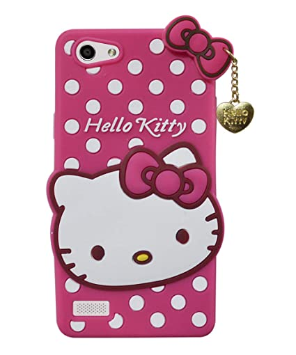 free shipping 24dd4 55415 COVERNEW Hello Kitty Rubber Back Cover for Oppo A33F (Neo 7) - Pink