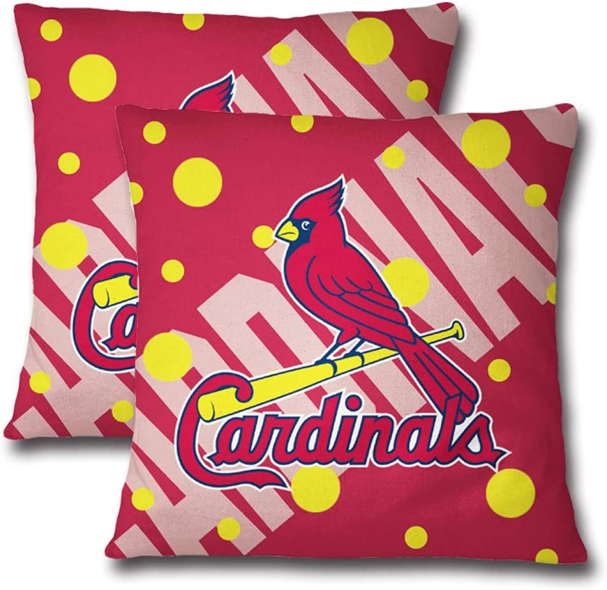 St.Louis Cardinals N//B Throw Pillow Covers Cardinals Baseball Team Solid Square Cushion Decorative Case for Sofa Couch and Bedroom Car Chair