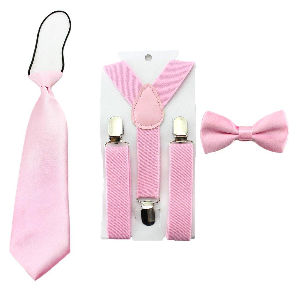 Kids Toddler Baby Boys Suspenders Bow Tie Necktie Set Child Bowtie Braces