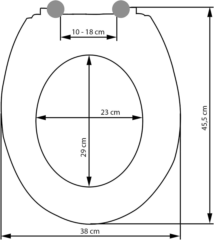 Blanc | no. 402256 diverses mod/èles tectake Abattant WC Frein de Chute Soft Close Si/ège de Toilette Cuvette Si/ège Lunette