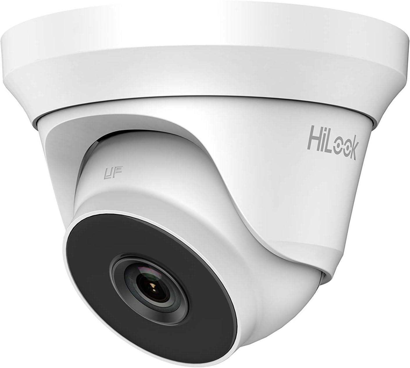 HiWatch by Hikvision THC-T240 2.8mm 4MP HD EXIR 40m IR TVI//AHD//CVI//CVBS Turret Dome CCTV C/ámara de Metal Cuerpo Blanco