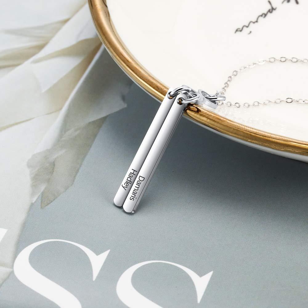 XiXi Unendlichkeitszeichen Kette mit Gravur Infinity Kette mit Namen Damen Unendlichkeit Anhänger Namenskette Edelstahl Halskette Geschenk für