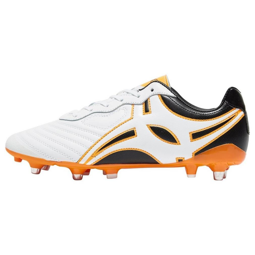 Gilbert Men's Sprint 6 Stud SG Rugby Boots, White, US12.5