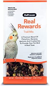Real Rewards Trail Mix Medium Bird Treats By Zupreem