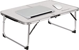 REDCAMP Foldable Laptop Table for Bed, Lightweight Small Bed Desk Portable for Laptops and Writing, Mini Size Breakfast Tray for Bed