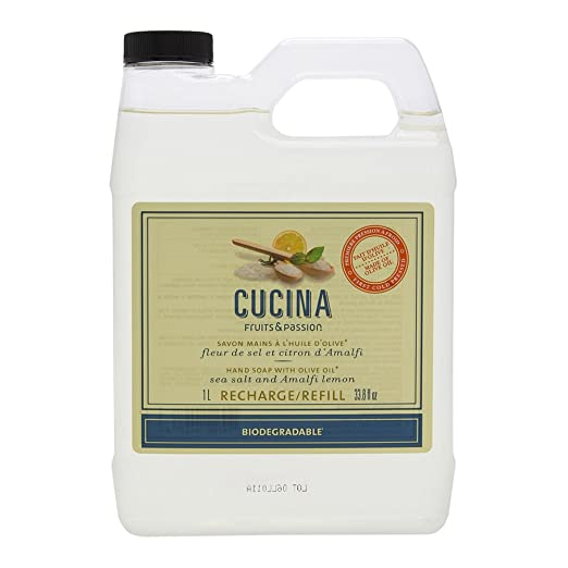 Amazon.com : Cucina Sea Salt and Amalfi Lemon Purifying Hand Wash Refill, 33.8 oz : Beauty