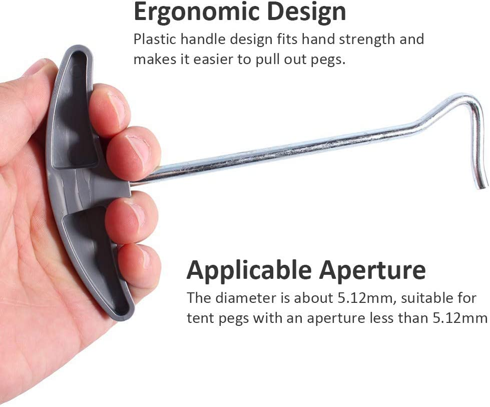 OMUKY Tent Peg Pullers T-Hook