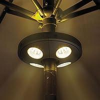 Lampe Parasol, KT SUPPLY Lumineux de Parapluie Sans Fil 24 LED Rechargeable Lumière Lanterne Eclairage Extérieur de Jardin pour Terrasse Jardin Grand Parapluie Tente de Camping Patio