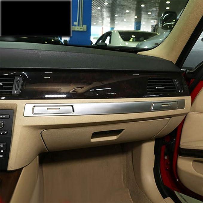 Dhfbs Auto Styling Für Bmw 3er E90 Getränkehalter Copilot Handschuhfach Griff Kohlefaserabdeckungen Aufkleber Trim Interieur Autozubehör Sport Freizeit