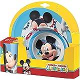 BBS Mickey Mouse Set da Tavola, Melamina/Polystirene, Multicolore, 25x26.5x6 cm 3 unità