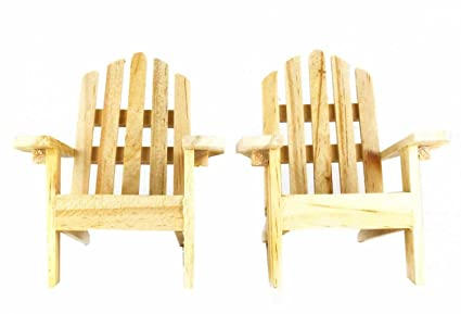 mini decorative adirondack style plain wood chairs set of 2 - Decorating Adirondack Chairs For Christmas