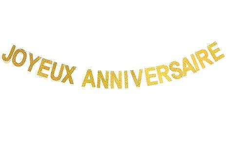 Glitter Joyeux Anniversaire Bannière Banderole Garland Bunting Party Décorations