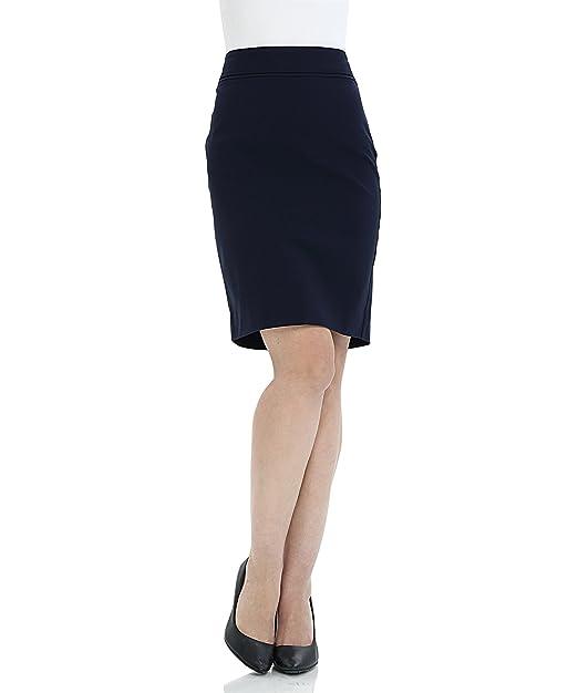 13bb15587d SATINATO Mujer Falda Tubo Recta Estilo Lápiz De Oficina Elegante De Vestir  6 R-Marino  Amazon.es  Ropa y accesorios