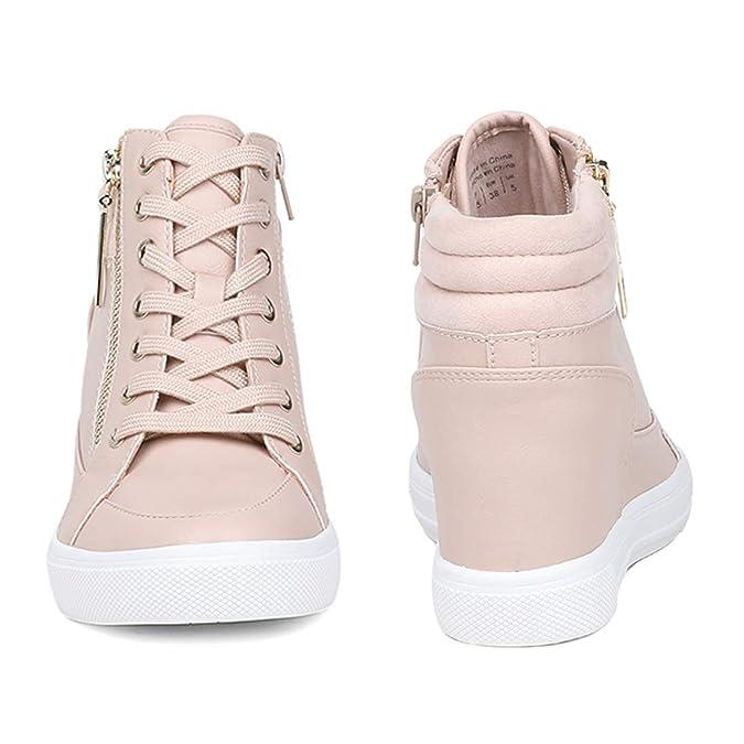 Buy Aldo Aeladda Pink Wedge Sneakers