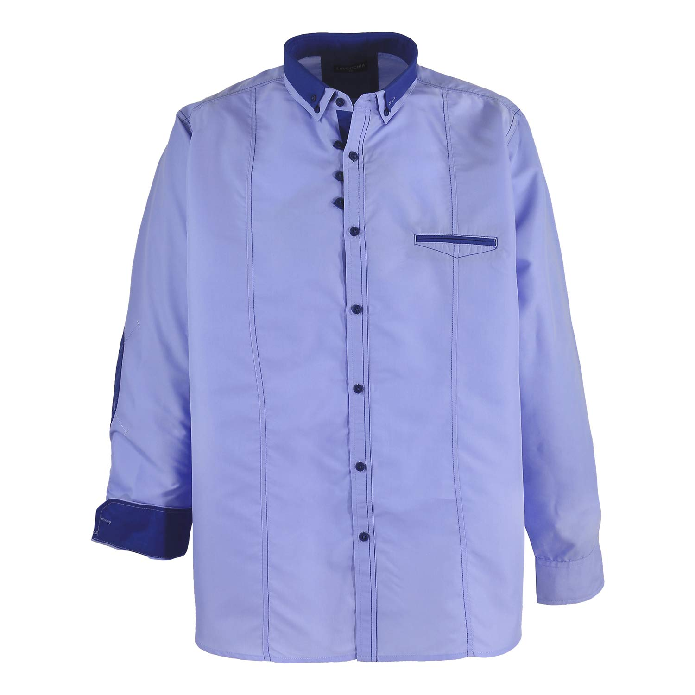 TALLA 7XL. Camisa de manga larga en azul claro / Lavecchia hasta talla 7XL