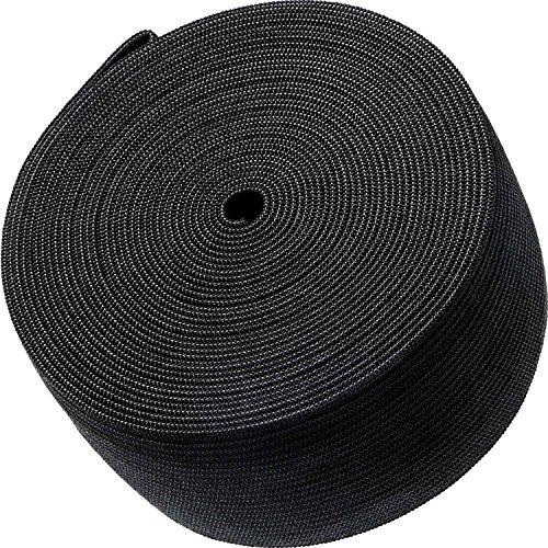 eBoot Black Elastic Spool (2 Inch x 5 Yard)