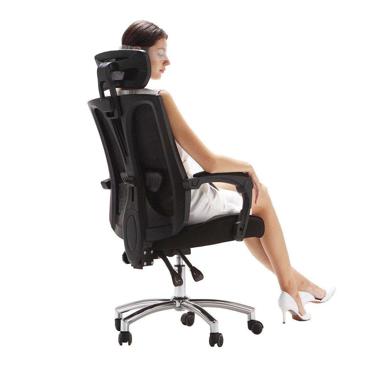 Hbada High-Back Perfect-Fit Office Chair, Ergonomic Chair,Computer Cahir, Desk Chair, Task Chair(Black)
