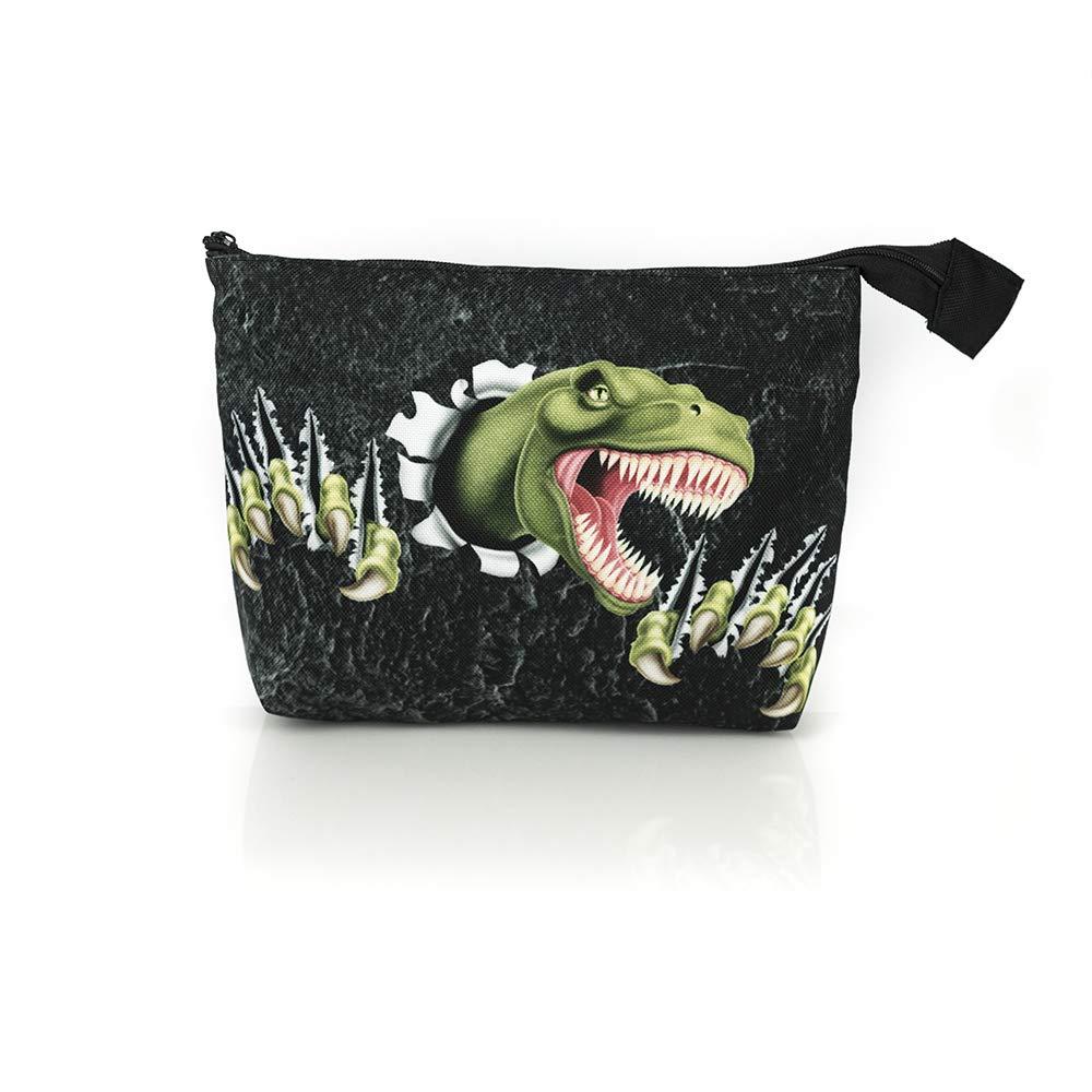 Green Dinosaur Collection Bolsa de viaje de aseo con dinosaurio / estuch e de cosmética para niño. / premium quality made in Europe