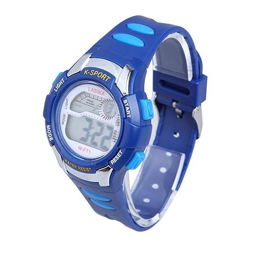 Reloj Sumergible 30m Deportivos de Natación para Niños (Azul)