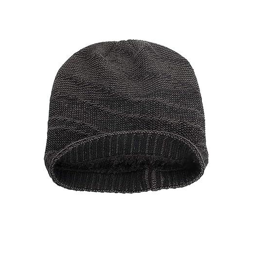 d91d24d1 Amazon.com: Striped Cotton Hats Unisex Warm Winter Knit Cap Outdoor ...