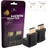 Exinoz HDMI Adapter Kit (90 Degree and 270 Degree) for Chromecast, Roku, Fire TV