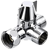 Sumnacon Solid Brass Shower Arm Diverter Valve,Handheld Shower and Shower Head Shower Arm 2-Way Diverter for Handshower Universal Component, Replacement Part for Hand Held Showerhead/Fixed Spray Head