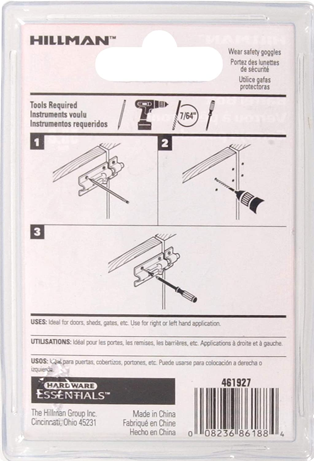 Amazon.com: Hillman Hardware Essentials 851020 Barrel Bolt Zinc and Yellow Dichromate 2