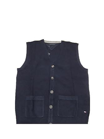 91227ffbc92a1 Tommy Hilfiger - Gilet sans Manche - Homme Bleu Bleu - Bleu - Small:  Amazon.fr: Vêtements et accessoires