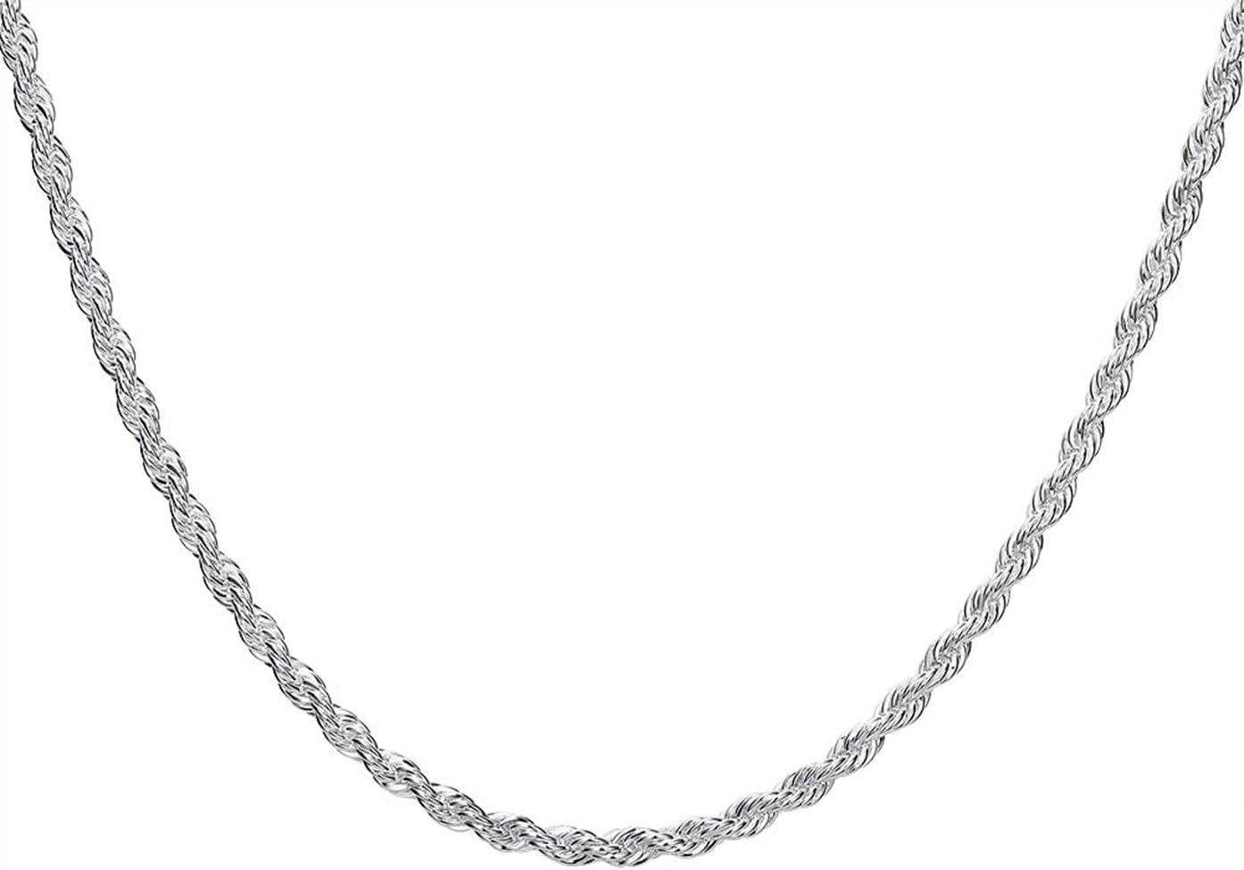 """24/"""" Necklace Women and Men Fashion Jewelry Silver Plate 4MM Snake Chain 16"""