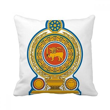 Amazon Com Diythinker Sri Lanka Asia National Emblem Square Throw