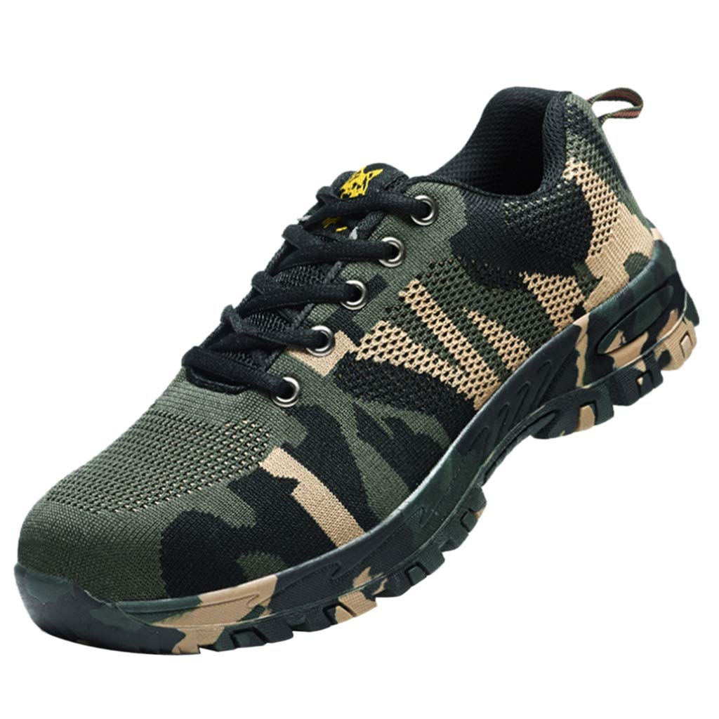 275mm Dolity Steel Toe Camouflage Safety Work shoes with Breathable Mesh Upper, AntiPiercing
