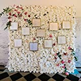"Artificial 24"" X 16"" Inches White Roses Panel. Suggested Uses Include Backdrop Photography, Garden Decor, Wedding Decorations, Flower Crafts and Landscaping."