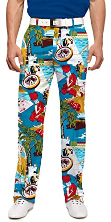 good service most reliable provide plenty of Loudmouth Golf - 97% Cotton/3% Spandex - John Daly Fun Colorful Bachelor  Party Vegas Men's Pant - Tour Slit at Bottom Hem