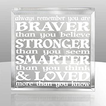 Christopher Robin to Pooh model SMARTER than you think /& LOVED more than you know STRONGER than you seem Kate Posh Always remember you are BRAVER than you believe Engraved Natural Wooden Plaque