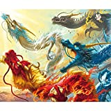 Paint by Number Kits - Dragons 16x20 Inch Linen