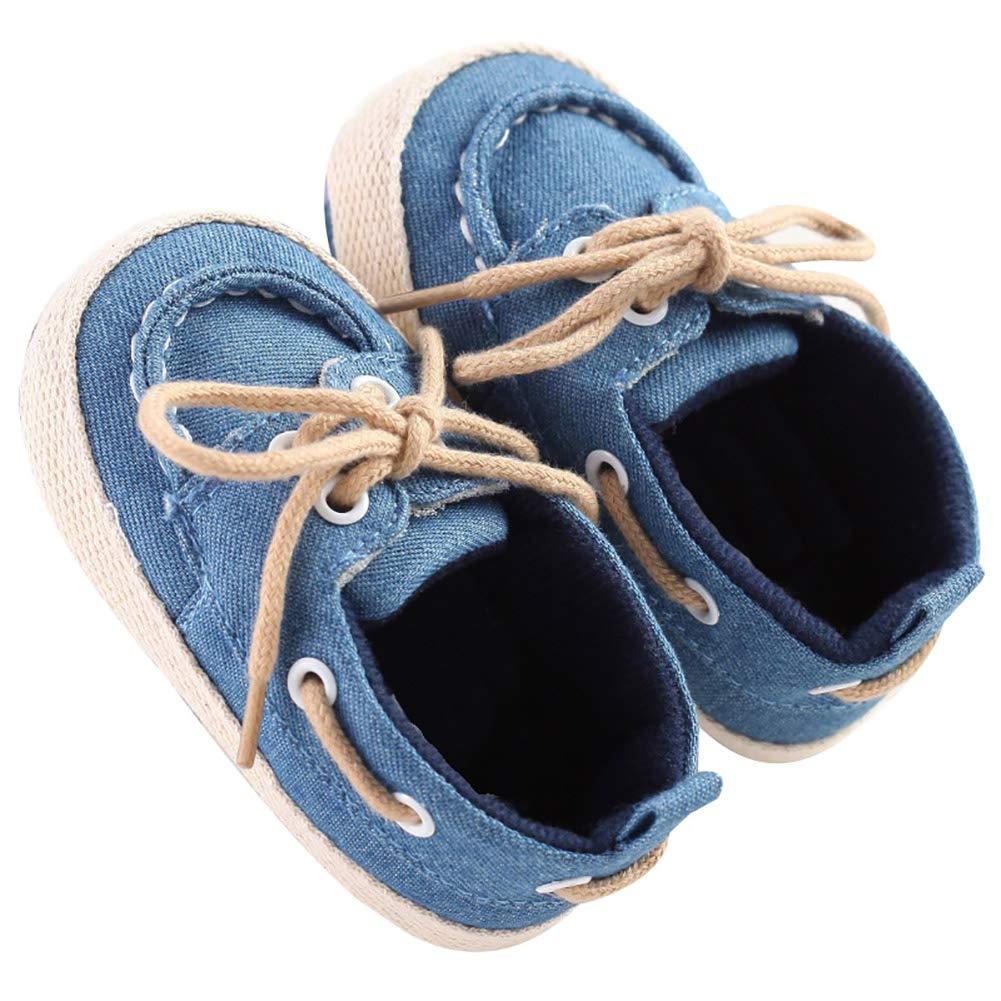 Alamana Fashion Newborn Infant Baby Girls Boys Soft Anti-Slip Prewalker Toddler Shoes Gift Blue 11cm
