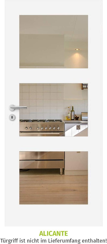 HORI/® Zimmert/ür I Innent/üre passend f/ür alle Standard-Zargen mit DIN Gr/ö/ße I 1985 x 860 mm I DIN Links