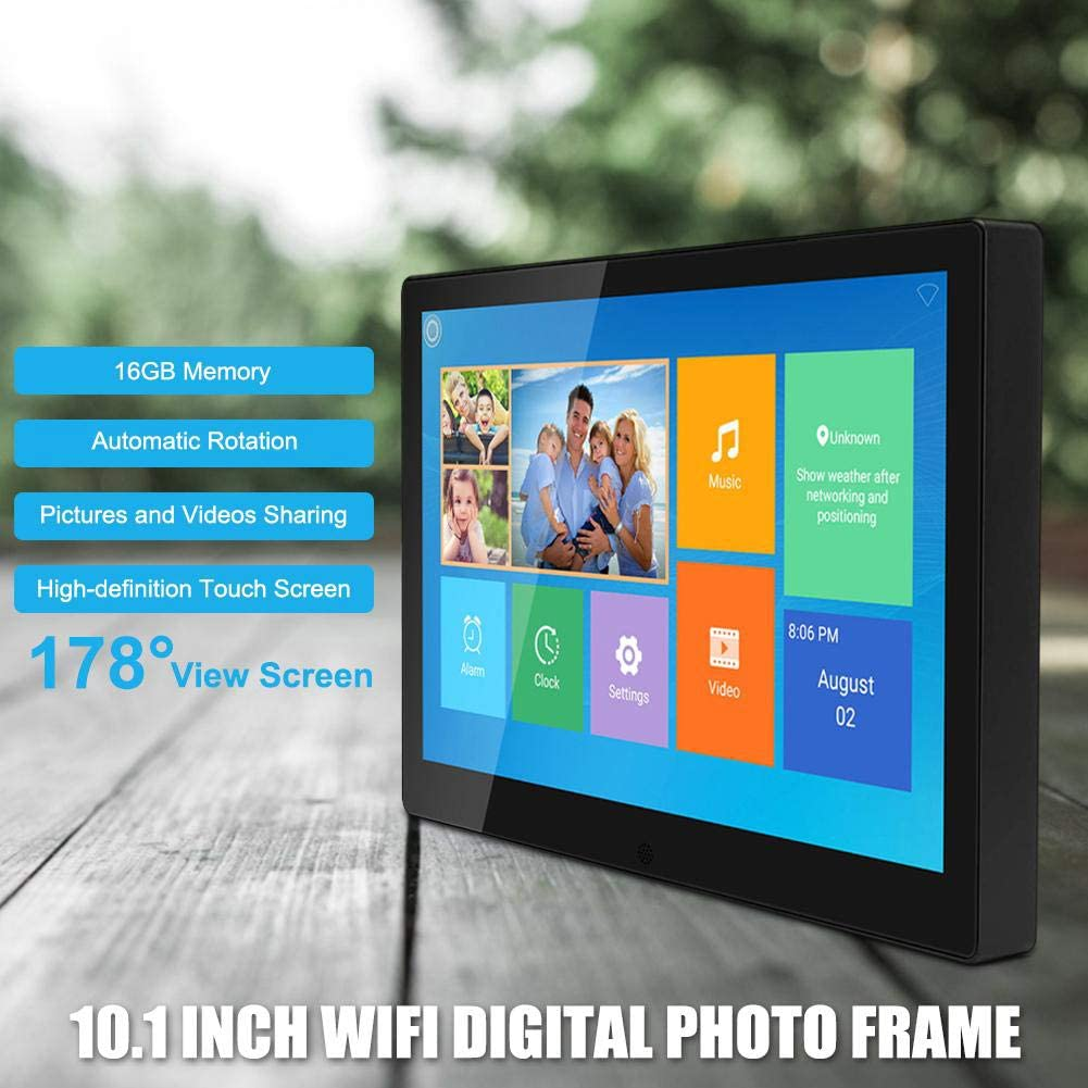 Built-in 16GB Storage IPS Touch Screen Electronic Photo Music Video 10.1 Inch WiFi Digital Photo Frame 1280 800 HD Picture Quality