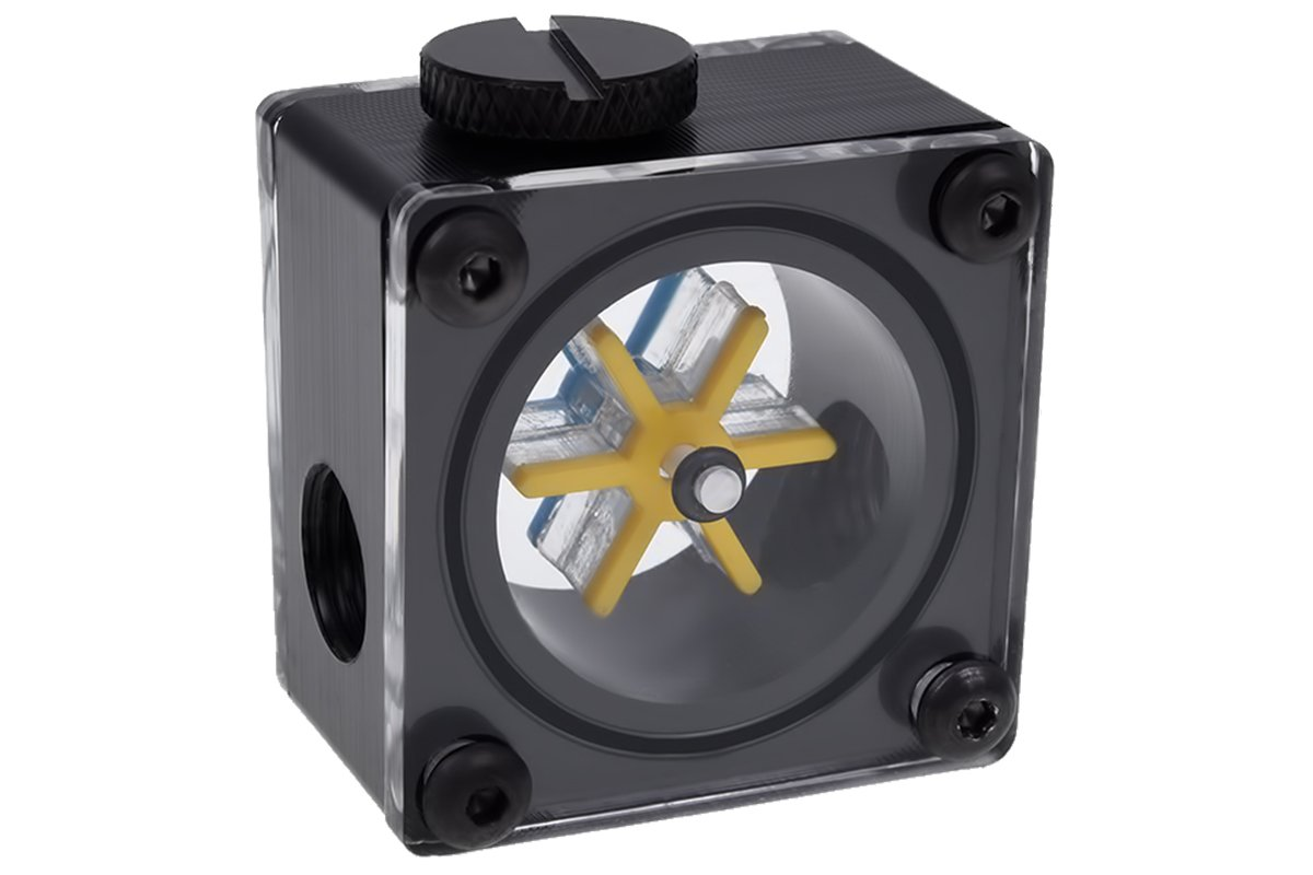Alphacool 17350 Eisfluegel Flow Indicator G1/4 Square - Acetal Water Cooling Monitoring
