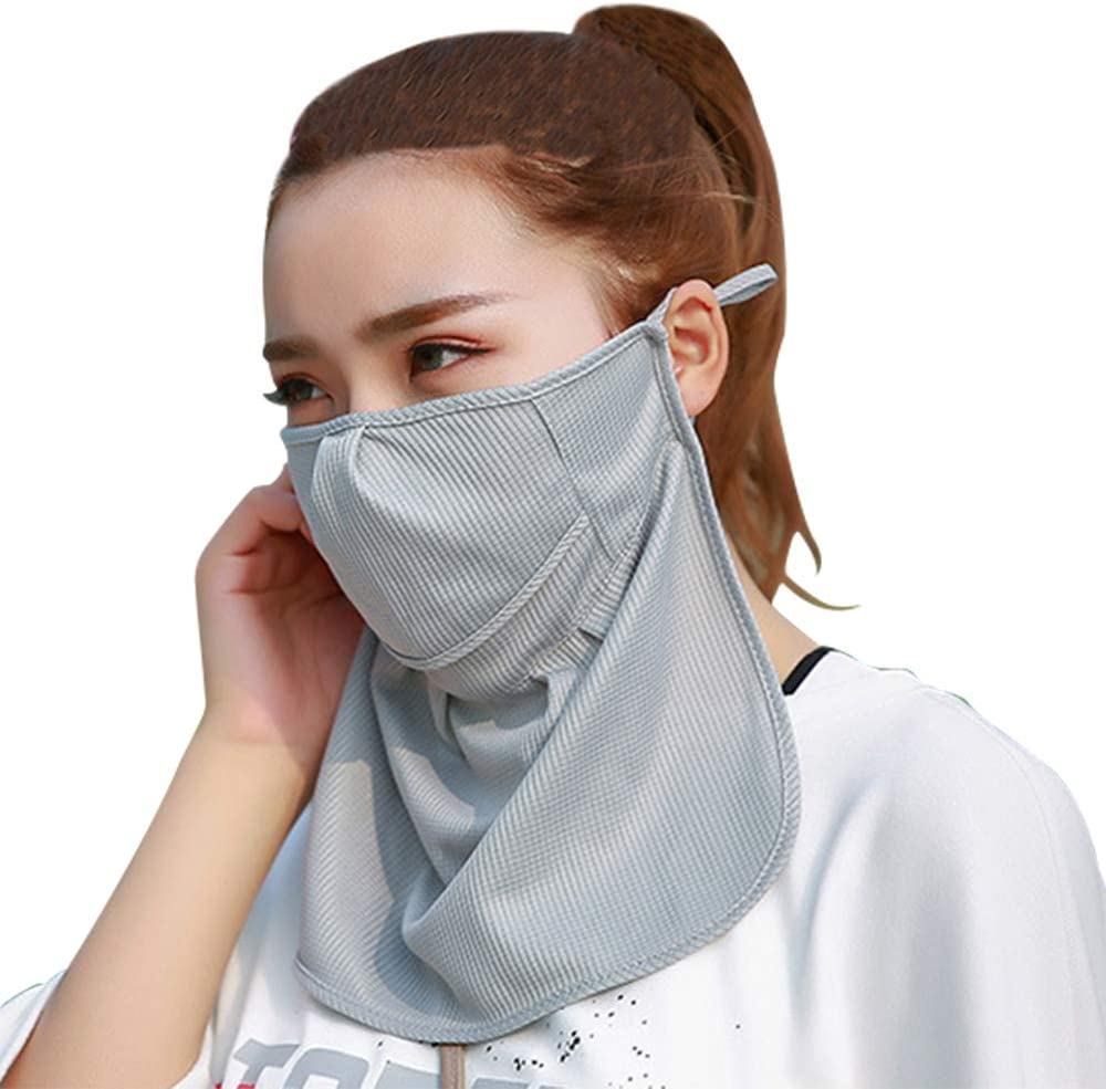 Face Bandanas with Filter for Men//Women//Kids Safety Full Protection Reusable Balaclava Headband Scarf Stretchy Breathable Face Covering Washable Cooling Ice Silk for Outdoor Cycling Motorcycle