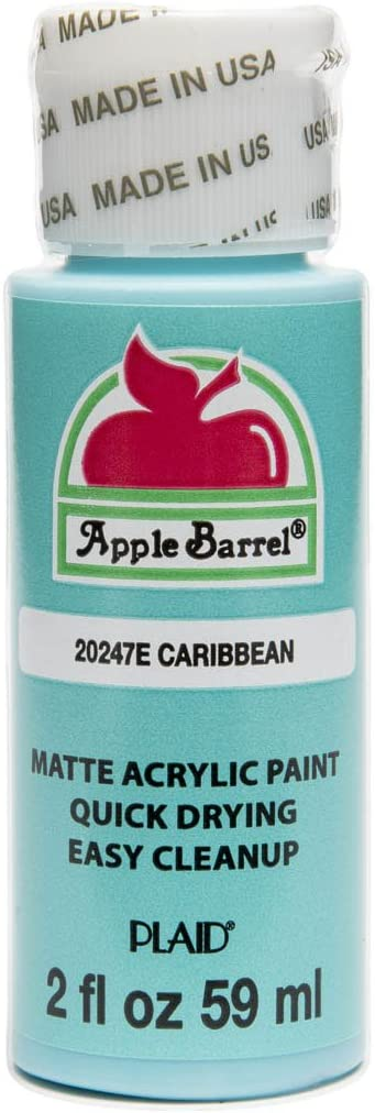 Apple Barrel Acrylic Paint in Assorted Colors (2 oz), 20247, Caribbean